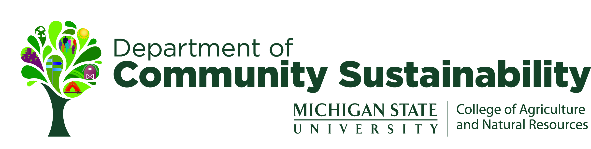 Logo for Department of Community Sustainability, Michigan State University